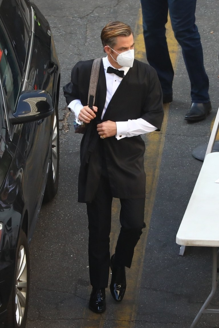 Chris Pine on Don't Worry Darling set