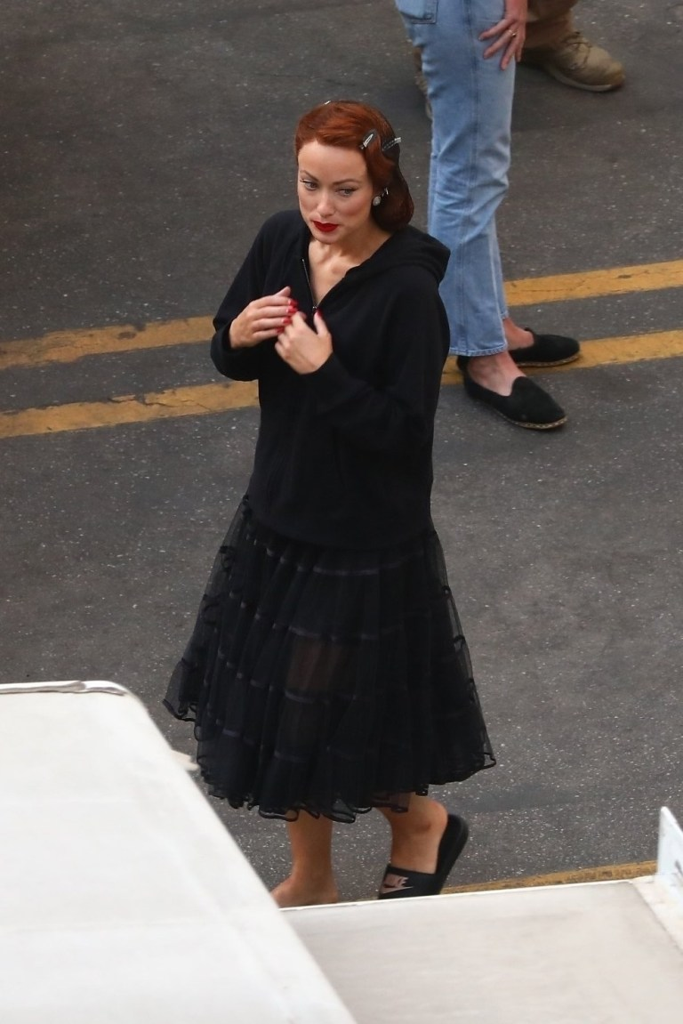 Olivia Wilde on on Don't Worry Darling set