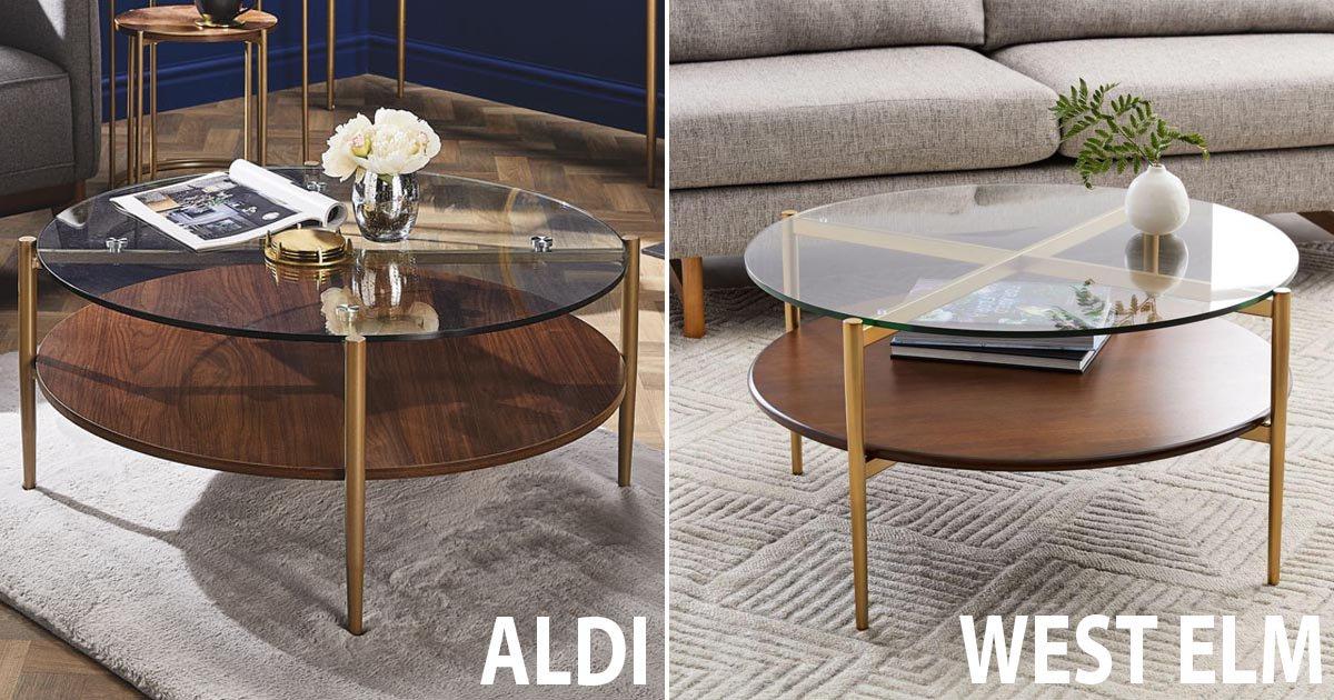 new aldi coffee table looks just like