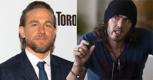 Charlie Hunnam and Russell Brand