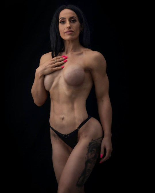 Mum of seven with cancer pictured topless