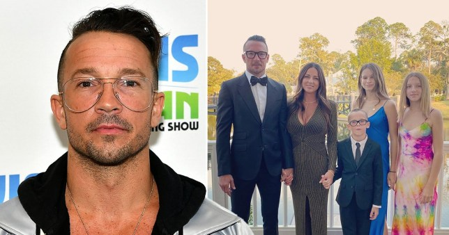 Getty Carl Lentz and his family
