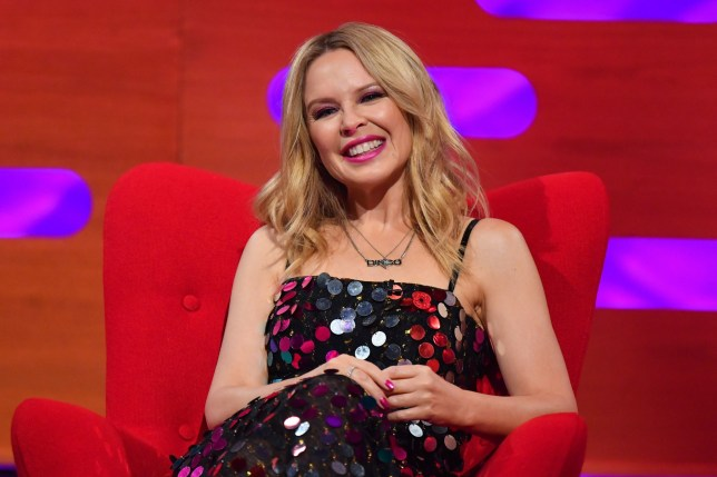 Kylie Minogue during the filming for the Graham Norton Show at BBC Studioworks 6 Television Centre, Wood Lane, London, to be aired on BBC One on Friday evening. Picture date: Thursday November 5, 2020. Photo credit should read: PA Media on behalf of So TV