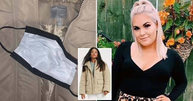 Jessica Sadler, who found a face mask in the pocket of a coat she ordered from ASOS