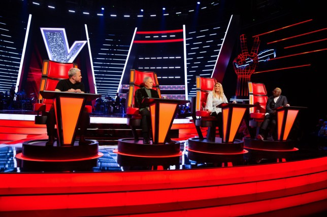 Editorial use only Mandatory Credit: Photo by Rachel Joseph/ITV/REX (10525144ai) The Judges - Olly Murs, Tom Jones, Megan Trainor, and Will I Am 'The Voice UK' TV show, Series 4, Episode 1, UK - 04 Jan 2020 The Voice UK, is a British ITV talent show that features four coaches looking for a talented new artist, who could become a global superstar.