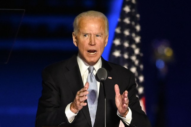 Joe Biden at his first post-election win speech