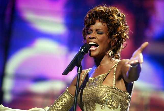 Whitney Houston is seen performing on stage during the 2004 World Music Awards at the Thomas and Mack Center on September 15, 2004 in Las Vegas, Nevada