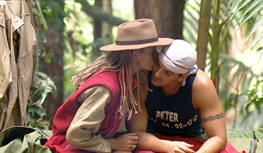 Editorial use only Mandatory Credit: Photo by ITV/REX (443235aa) Jordan [Katie Price] [KATIE PRICE] AND PETER ANDRE 'I'M A CELEBRITY, GET ME OUT OF HERE' TV PROGRAMME, AUSTRALIA - 04 FEB 2004