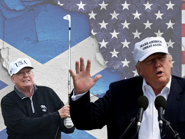 Donald Trump not welcome in Scotland as residents fear he will turn up to play golf at his resorts Reuters Getty Images