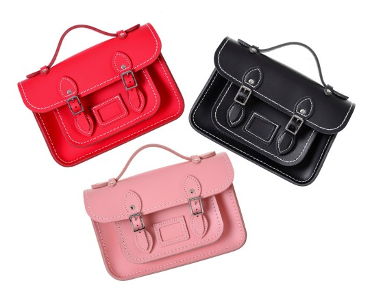The Cambridge Satchel Company have once again teamed up with chic French fashion house Comme des Gar?ons to produce 'The Mini', a miniature version of the classic satchel in pink, red and black. One for the Christmas list. ?230 Matchesfashion.com https://www.matchesfashion.com/products/Comme-des-Gar?ons-Girl-X-The-Cambridge-Satchel-Company-leather-bag-1378577