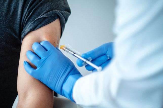 A person getting a vaccine