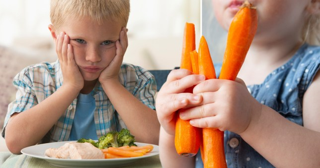 Telling kids carrots help them see in the dark 'can damage them for life'