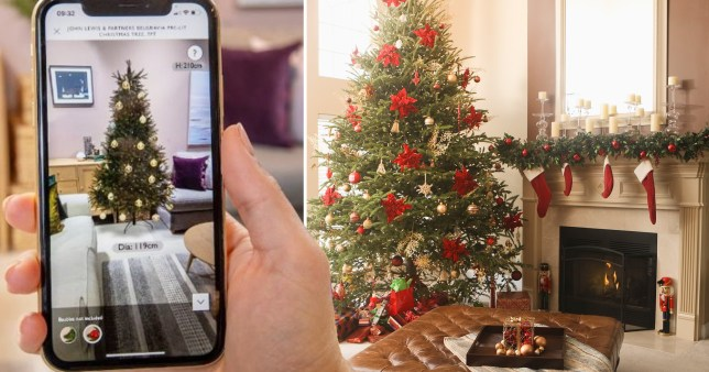 John Lewis app with virtual Christmas tree function