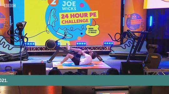 9.25 Thursday Joe Wicks 24hr workout begins