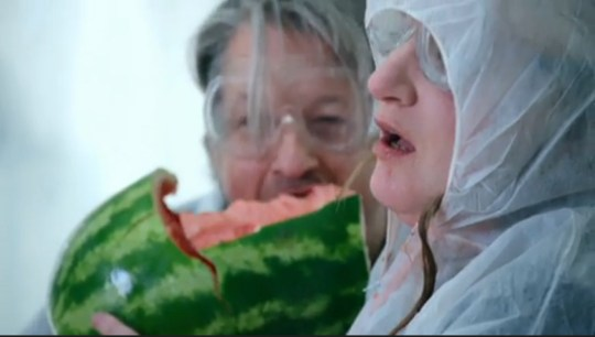 Daisy May Cooper eating watermelon on Taskmaster, Channel 4