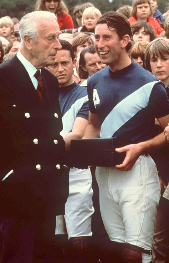 PRINCE CHARLES WITH LORD LOUIS MOUNTBATTEN