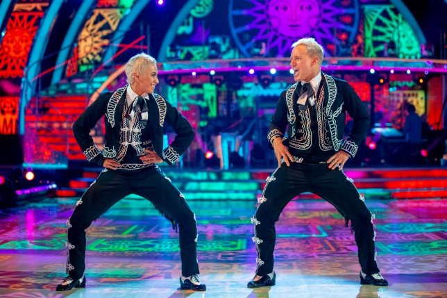 Karen Hauer and Jamie Laing on Strictly Come Dancing