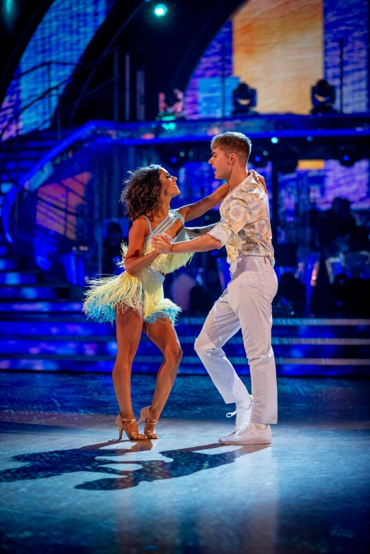 EMBARGOED TO 2040 SATURDAY 14 NOVEMBER For use in UK, Ireland or Benelux countries only Undated BBC handout photo of HRVY and Janette Manrara during the dress show for Saturday's programme in the BBC1 dancing contest, Strictly Come Dancing. PA Photo. Issue date: Saturday November 14, 2020. See PA story SHOWBIZ Strictly. Photo credit should read: Guy Levy/BBC/PA Wire NOTE TO EDITORS: Not for use more than 21 days after issue. You may use this picture without charge only for the purpose of publicising or reporting on current BBC programming, personnel or other BBC output or activity within 21 days of issue. Any use after that time MUST be cleared through BBC Picture Publicity. Please credit the image to the BBC and any named photographer or independent programme maker, as described in the caption.