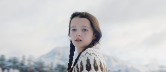10-year-old ice skater Darcy Murdoch appearing in their new 2020 Christmas advert.
