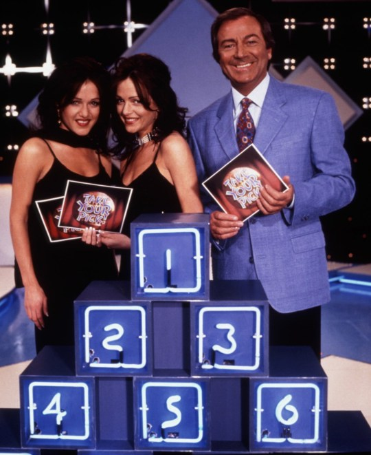 'Take Your Pick' - Des O'Connor with Gayle and Gillian Blakeney.