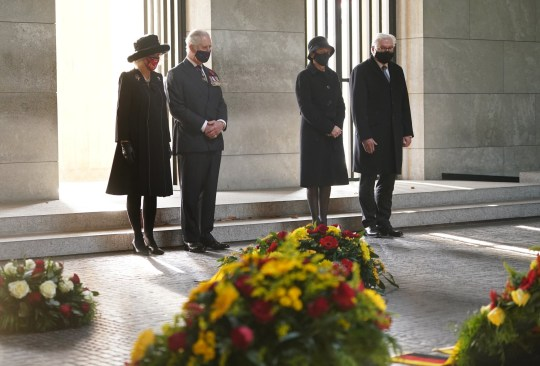 The Prince of Wales and the Duchess of Cornwall went to Germany this weekend to participate in the country's National Day of Mourning.