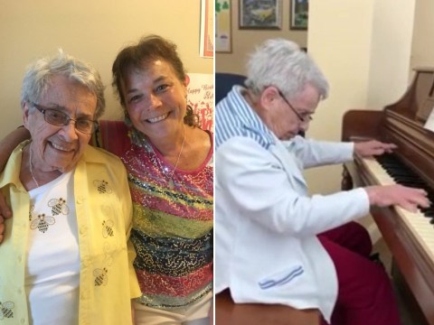 Daughter shows moving moment her 92-year-old mum living with dementia remembers piano music