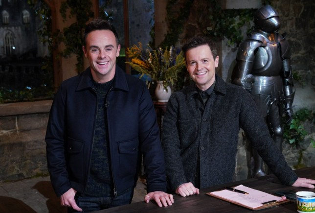 Ant and Dec in the castle on I'm A Celebrity