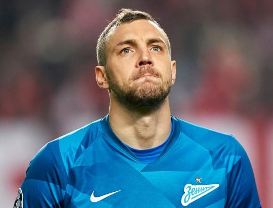 Artem Dzyuba du FC Zenit Saint Petersburg regarde avant le match du groupe G de la Ligue des Champions entre SL Benfica et Zenit Saint-Pétersbourg