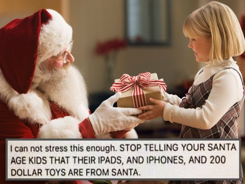 Parents warned not to tell children expensive Christmas gifts are from Santa