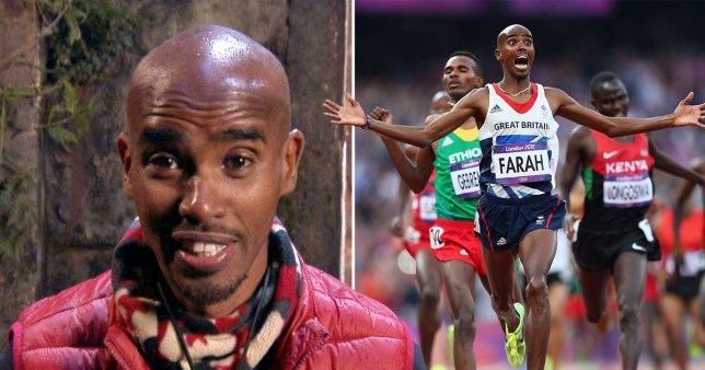 Sir Mo Farah in I'm A Celebrity and running in London 2012 Olympics