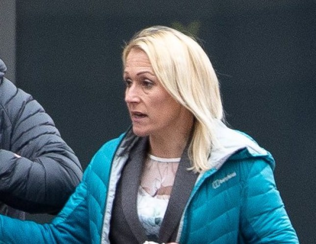 Suzanne Johnson leaving Manchester Magistrates court where she received a ??300 fine for being in charge of a dog dangerously out of control. A schoolgirl, aged 14 bravely used herself as a human shield to save her Jack Russell from being mauled after they were attacked by Johnson's runaway Staffordshire bull terrier. Disclaimer: While Cavendish Press (Manchester) Ltd uses its' best endeavours to establish the copyright and authenticity of all pictures supplied, it accepts no liability for any damage, loss or legal action caused by the use of images supplied. The publication of images is solely at your discretion. For terms and conditions see http://www.cavendish-press.co.uk/pages/terms-and-conditions.aspx