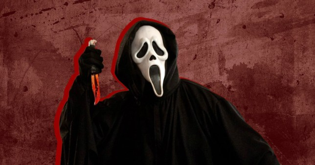 Masked character from Scream holding knife