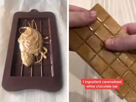 Foodie shares easy trick for making a delicious caramelised white chocolate bar