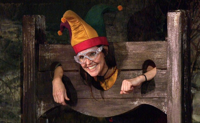 Editorial use only Mandatory Credit: Photo by ITV/REX (11020940d) Trial, Stage Fright - Ruthie Henshall 'I'm a Celebrity... Get Me Out of Here!' TV Show, Series 20, Show 4, Gwrych Castle, Wales, UK - 18 Nov 2020