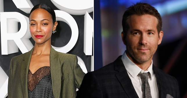 Marvel stars Zoe Saldana and Ryan Reynolds team up on new Netflix movie