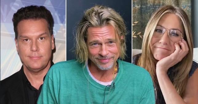 Dane Cook, Brad Pitt and Jennifer Aniston