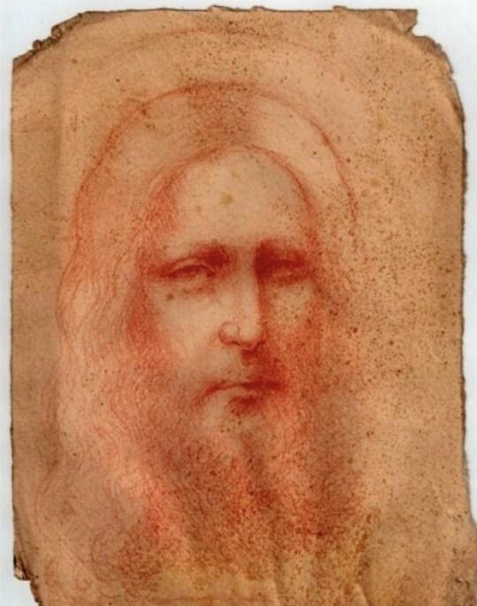 Croquis du Christ considéré comme un chef-d'œuvre de Da Vinci
