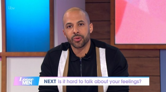 Mandatory Credit: Photo by ITV/REX (11023134o) Marvin Humes 'Loose Women' TV Show, London, UK - 19 Nov 2020