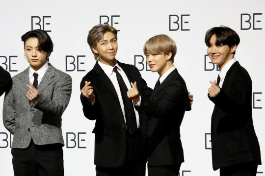 BTS stars Jungkook, RM, Jimin and J-Hope