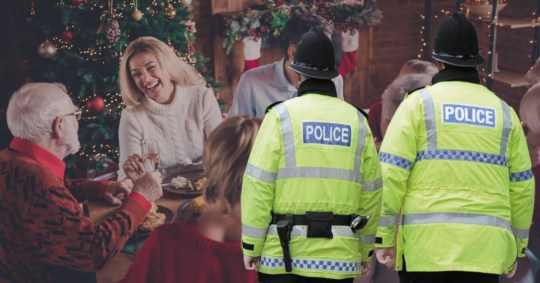 Police won't interrupt Christmas dinners to enforce Covid rules Pics: Getty