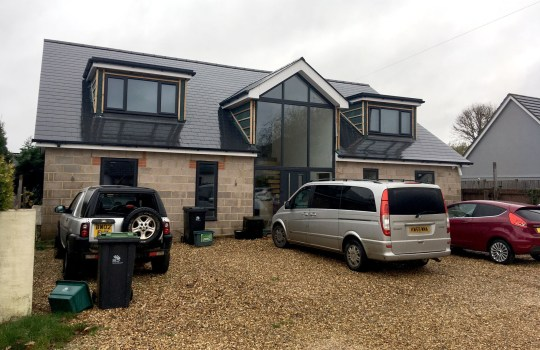 BNPS.co.uk (01202) 558833. Pic: BNPS Pictured: The new house Rhodes was building with the money she stole in Verwood, Dorset. A woman who stole over ??437,000 from her employers and spent it on a building a new house and skiing holidays was today jailed for five years. Emma Rhodes used her position as financial controller for a company to siphon off the cash over three years. She wrote bogus emails to show to her partner that she was doing well in her job and was entitled to ??89,000 bonuses to stop him becoming suspicious bot there new-found wealth.