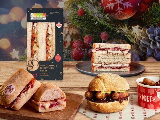 With Christmas fast approaching, here's a list of where to grab a festive sandwich to go.