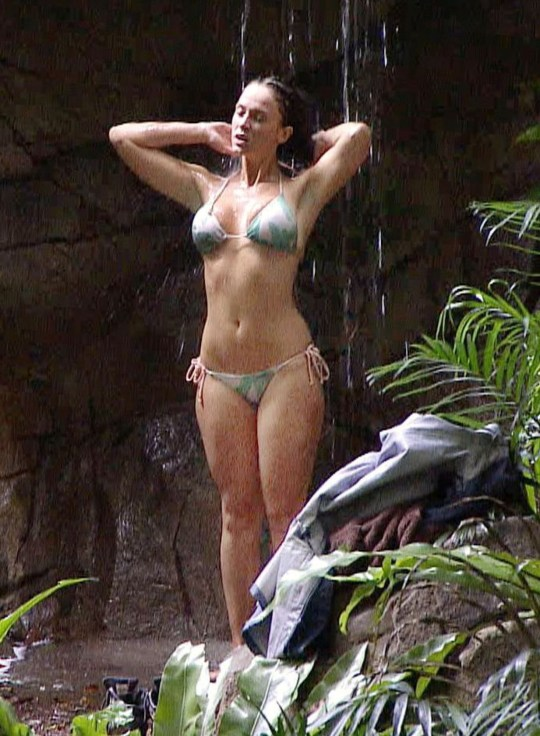 Vicky Pattison in the shower 'I'm A Celebrity...Get Me Out Of Here!'