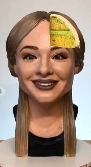 Baker makes cake that looks exactly like her