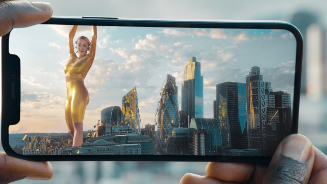 Rita Ora in avatar form over London in EE's latest 5G advert (EE)