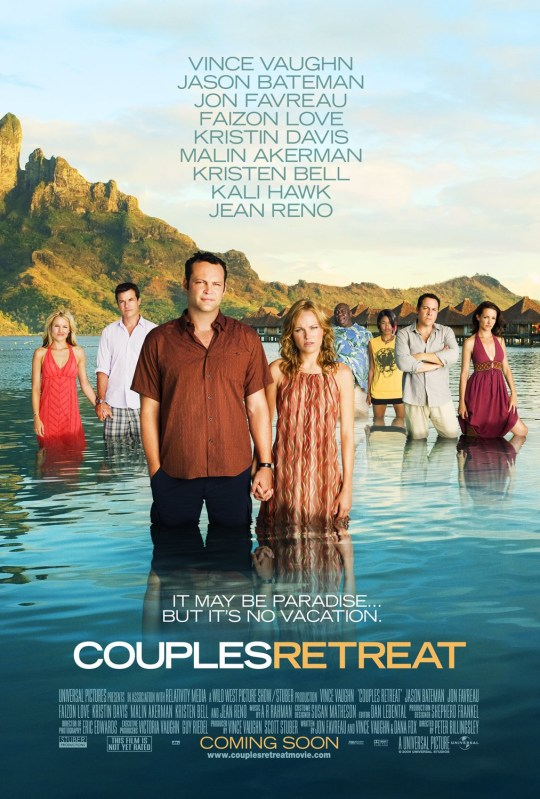 The before and after posters of Couples Retreat: an exclusive story overnight for Candace on a lawsuit in which actor Faizon Love is suing Universal Studios over a race row involving the movie Couples Retreat. Essentially Love and his co-star Kali Hawk, who are both black, were scrubbed from the posters promoting the 2009 movie on the international market and Love is still fuming all these years later because he's realized the 'racist' posters have still not been removed as promised.