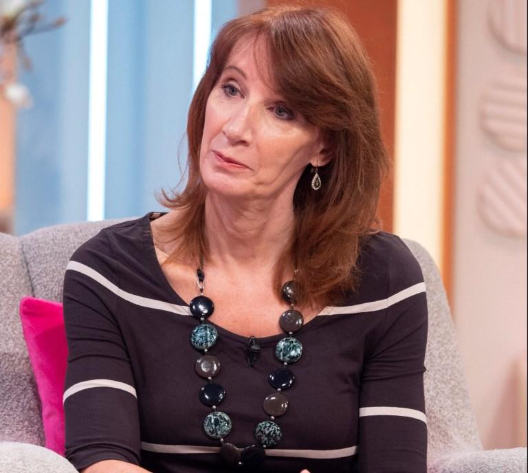 Philippa York  on the 'Lorraine' TV show,