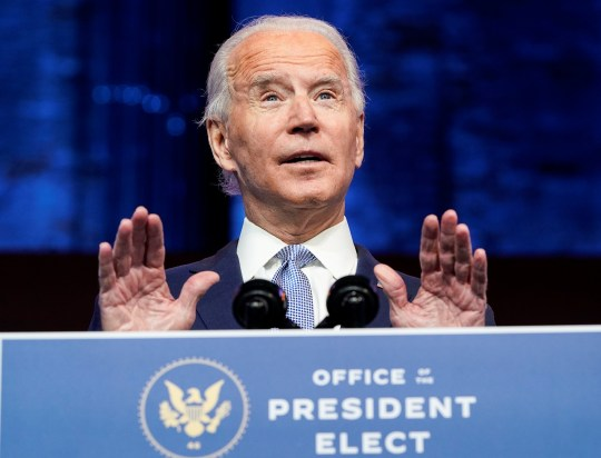 U.S. President-elect Joe Biden announces his national security nominees and appointees at his transition headquarters in Wilmington, Delaware, U.S., November 24, 2020. REUTERS/Joshua Roberts