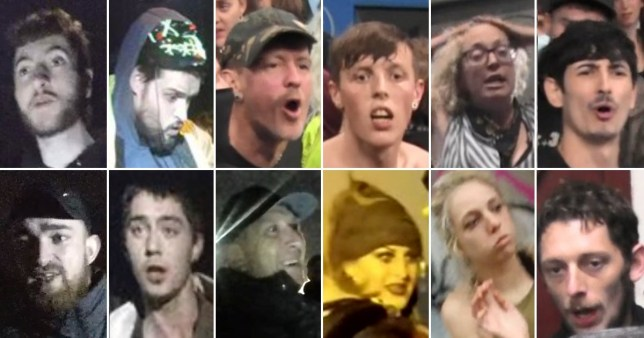 Bodycam footage released by Avon and Somerset Police showning gurning partygoers at a warehouse rave in South Gloucestershire on Halloween, 2020