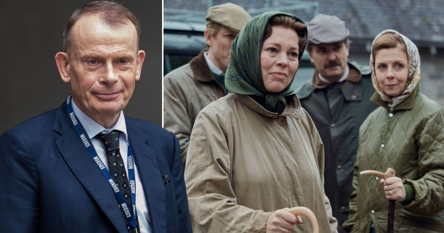andrew marr / olivia colman in the crown
